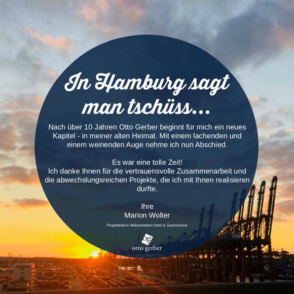 In Hamburg sagt man tschüss...